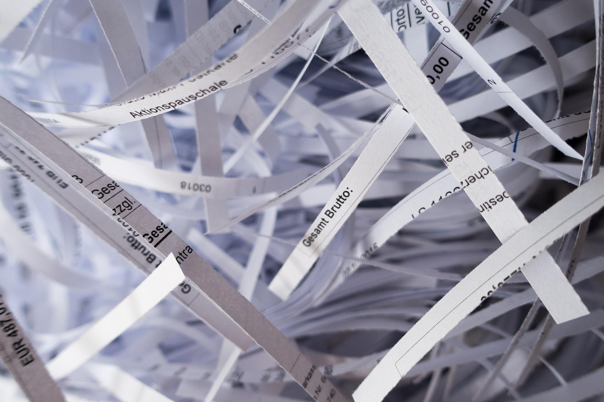 destrucción de papel